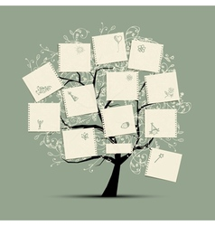 Wish tree for your design vector image vector image