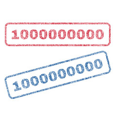 1000000000 textile stamps vector image vector image