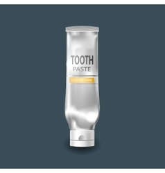 Cool realistic white tube for tooth paste vector