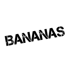 Bananas rubber stamp vector