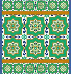 Spanish classic ceramic tiles vector