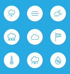 Meteorology outlines set collection of drop vector