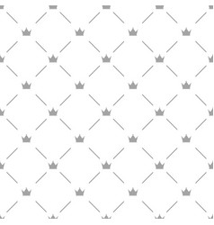 luxury seamless pattern with silver crowns vector image