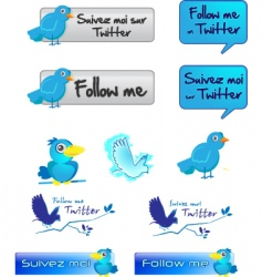 Twitter button vector