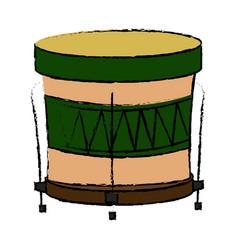 Brazilian samba batucada drum instrument music vector