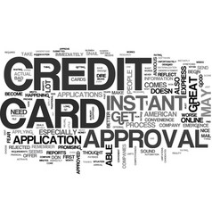 Apply online credit card instant text word cloud vector