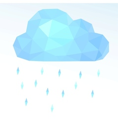Polygonal cloud vector