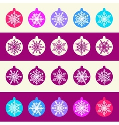 Seamless pattern from set of christmas balls with vector