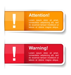 Attention and warning labels vector