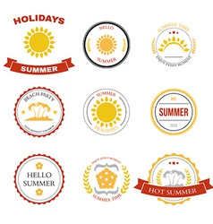 Summer design elements and typography design vector