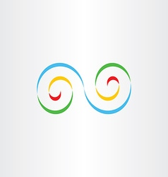 Colorful infinity logo sign design element vector