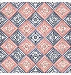 Pattern with blue and red rhombu vector