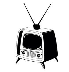 tv137 vector image