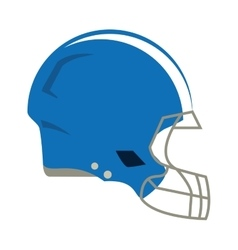 American football helmet protection vector