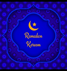 Arabic background ramadan blue vector