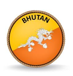 Bhutan Seal vector image vector image