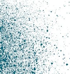 Blue light Ink paint splatter on white background vector image vector image