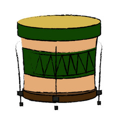 Brazilian samba batucada drum instrument music vector