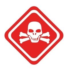 Danger caution advert icon vector