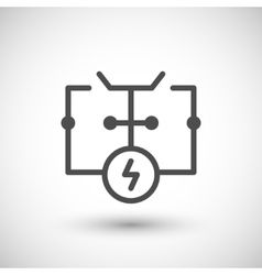 Electrical scheme line icon vector