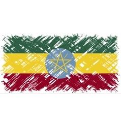 Ethiopian grunge flag vector