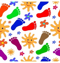 Feet seamless pattern vector