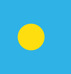 flag of palau vector image vector image
