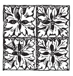 Gothic architecture diaper ornament the vector