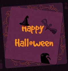 Halloween poster bright banner greeting card in vector