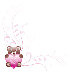 Happy Valentines day border I love you - text vector image