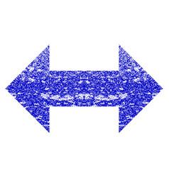 Horizontal exchange arrows grunge textured icon vector