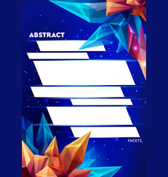 image of a faceted crystal template for design vector image vector image