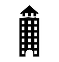italian building icon vector image vector image