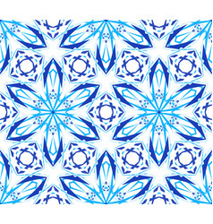 Kaleidoscopic pattern light blue flower vector
