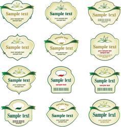 logo labels vector image vector image