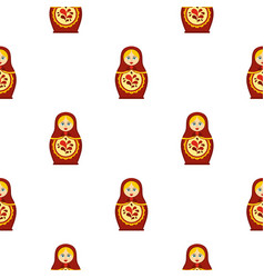 Matrioshka pattern flat vector
