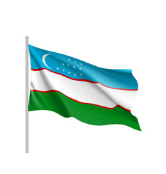 National flag of uzbekistan republic vector