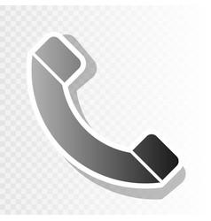 phone sign new year blackish vector image