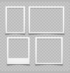 Photo frames with realistic drop shadow vector