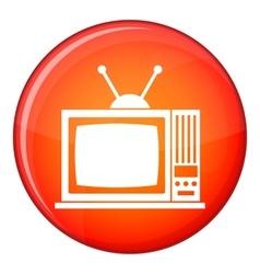 Retro TV icon flat style vector image vector image