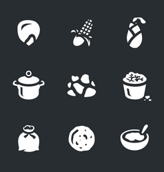Set of corn icons vector