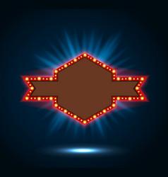 shining blue spotlight billboard sign vector image vector image