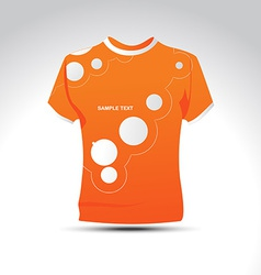 stylish orage color tshirt design vector image