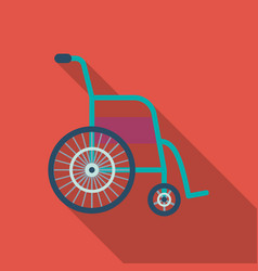 Wheelchair icon flat single medicine icon from vector