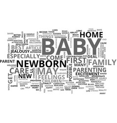 When your baby arrives text word cloud concept vector
