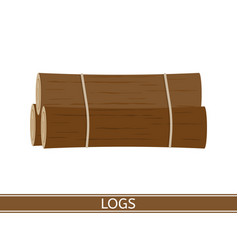 wooden logs isolated vector image vector image