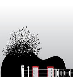 Guitar notes burst vector