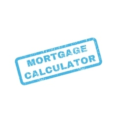 Mortgage calculator rubber stamp vector