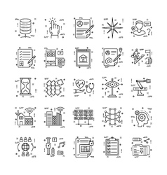 Line icons with detail 22 vector