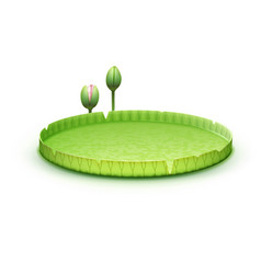 Water lily pad vector